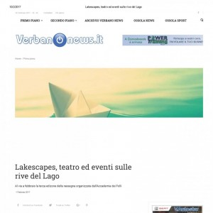 LAKESCAPES STAGIONE 2017. VERBANO NEWS