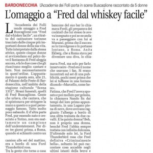 FRED DAL WHISKEY FACILE. CRONACAQUI 2019