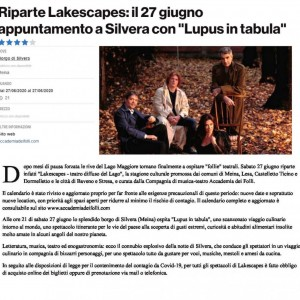 LUPUS IN TABULA. NOVARA TODAY 2020