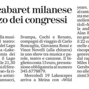 WILD YEARS. MANHATTAN - LONDON. LA STAMPA NOVARA 2020